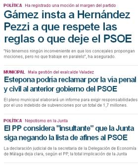 Web El Mundo Málaga 23 de mayo de 2013